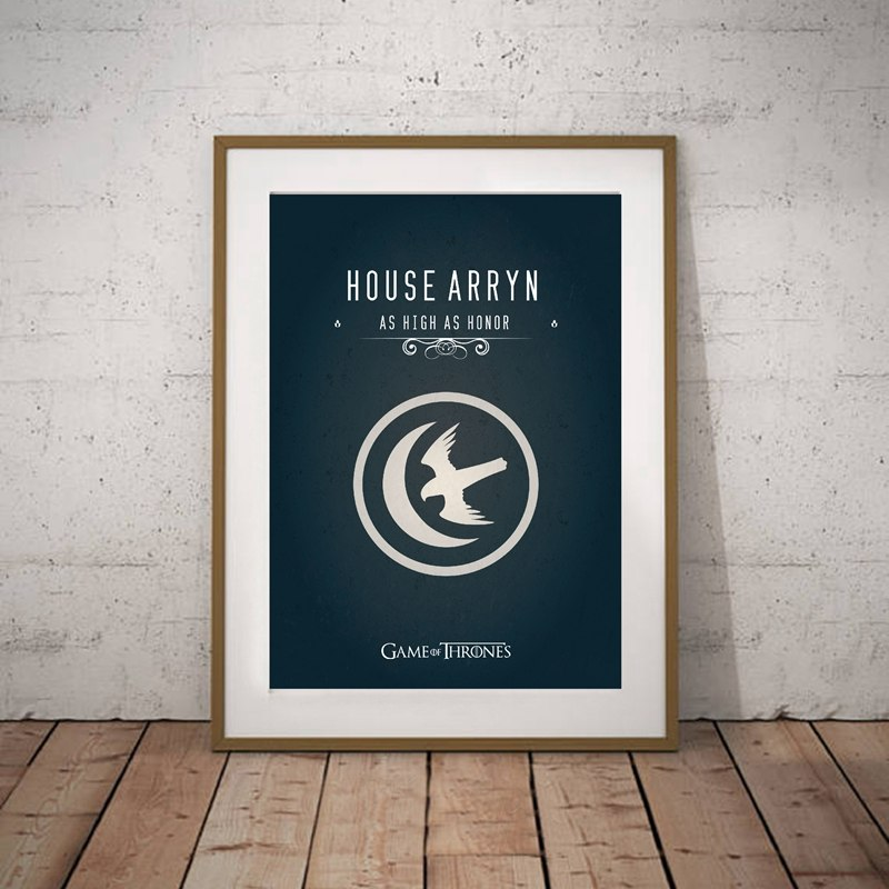 Game of Thrones Wall Art Canvas Print House Targaryen Banner Poster , House  Stark Canvas Painting Game of Thrones Movie Poster
